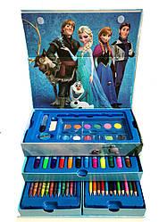 """Набор для рисования 54 предметов в сундучке """"Принцесса холодное сердце"""""""