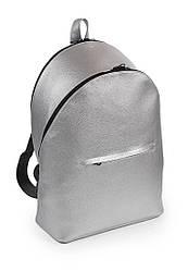 Женский серебряный рюкзак из экокожи (20-31)