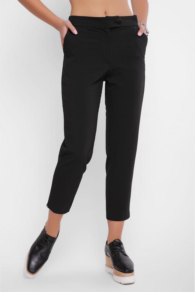 Классические женские брюки с карманами черные