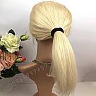 Натуральный парик каре блонд на сетке, имитация кожи головы, фото 2