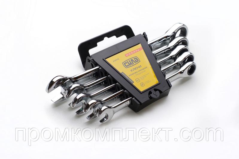 Набор ключей комбинированных с трещоткой CrV в чехле (8,10,12,13,14,15,17,19) 8шт