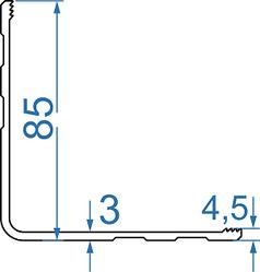 Алюминиевый профиль для монтажа панелей 85х85х3 AS