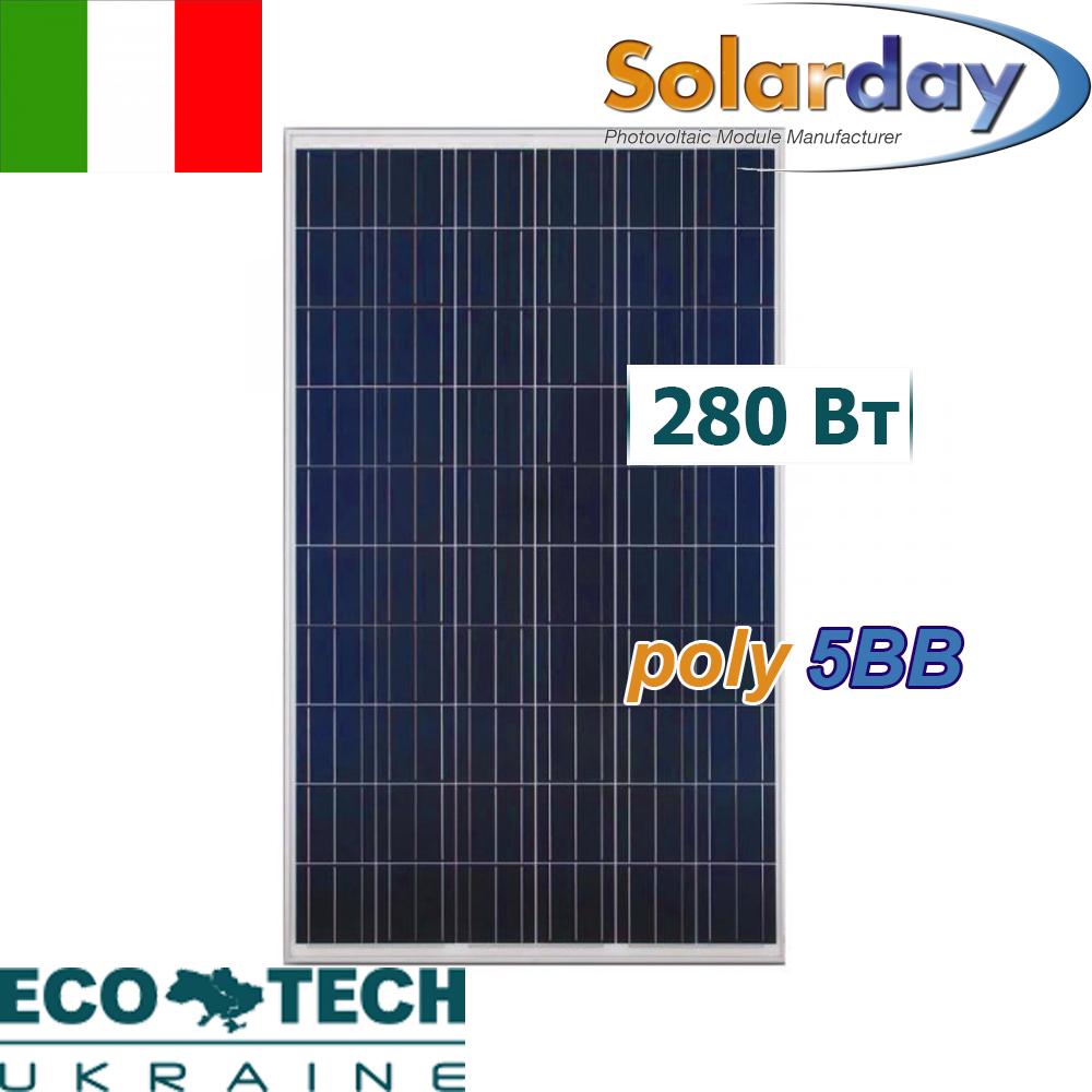 SolarDay PX60 280W (5BB) солнечная панель (батарея, фотоэлектрический модуль)