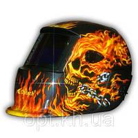 Сварочная маска-хамелеон OPTECH S777A Череп в огне
