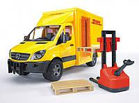 Игрушка Bruder МВ Sprinter курьерская доставка грузов с погрузчиком М1:16 (02534)