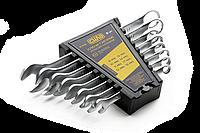 Набор ключей рожково-накидных CrV (6-22мм) 12шт