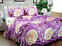 Бязь Gold Розы на фиолетовом 1010-2
