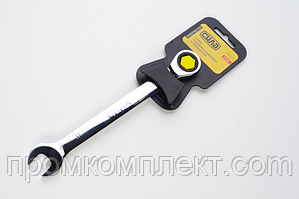 Ключ рожково-накидной с трещоткой CrV 10мм