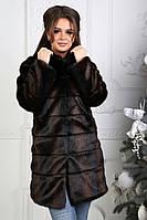 Женская шуба под норку с утеплителем, фото 1