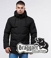 """Черная удлиненная зимняя куртка на подростка Braggart """"Юз"""" - S, M, XL, XXL"""
