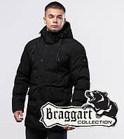 """Длинный мужской зимний пуховик Braggart """"Юз"""" черного цвета"""