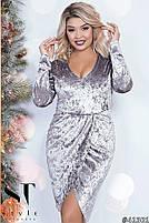 Коктейльное женское платье  с имитацией запаха с 42 по 54 размер, фото 2