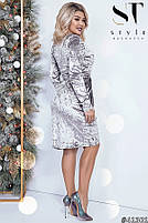 Коктейльное женское платье  с имитацией запаха с 42 по 54 размер, фото 3