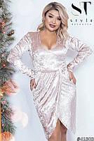 Коктейльное женское платье  с имитацией запаха с 42 по 54 размер, фото 5