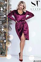 Коктейльное женское платье  с имитацией запаха с 42 по 54 размер, фото 7