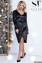 Коктейльное женское платье  с имитацией запаха с 42 по 54 размер, фото 8