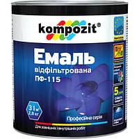 Эмаль Kompozit ПФ-115 черная матовая 2.8 кг