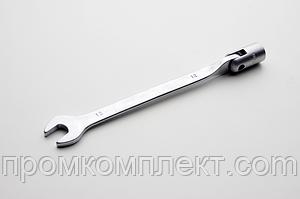 Ключ рожково-накидной шарнирный CrV  8мм