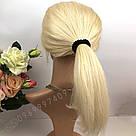 Парик из натуральных волос, каре блонд на сетке, фото 3