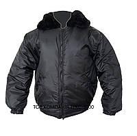 Куртка утепленная «Пилот»  с меховым воротником . Куртки для охраны.