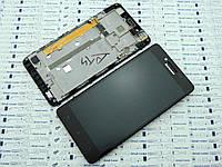 БУ.Оригинал Lenovo A6000 дисплей (модуль) в корпусе Черный
