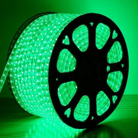 Светодиодная лента AVATON 2835-120 220В IP68 зеленый, герметичная, 1м