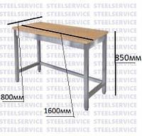 Стол производственный для обработки мучных изделий без полки 1600*800*850мм