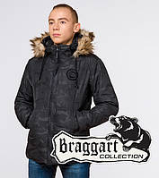 Парка-куртка мужская камуфляжная Braggart «Юз» на холодную зиму черного цвета - S, M, L, XL, 2XL