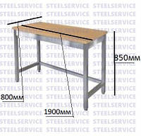 Стол производственный для обработки мучных изделий без полки 1900*800*850мм