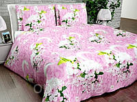 Бязь Gold Букеты розовых цветов на розовом фоне 1029-1