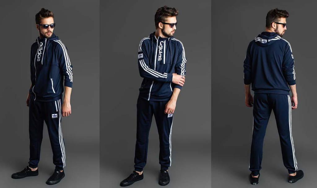 430ec27c182f Мужской стильный спортивный костюм двухнить 1066