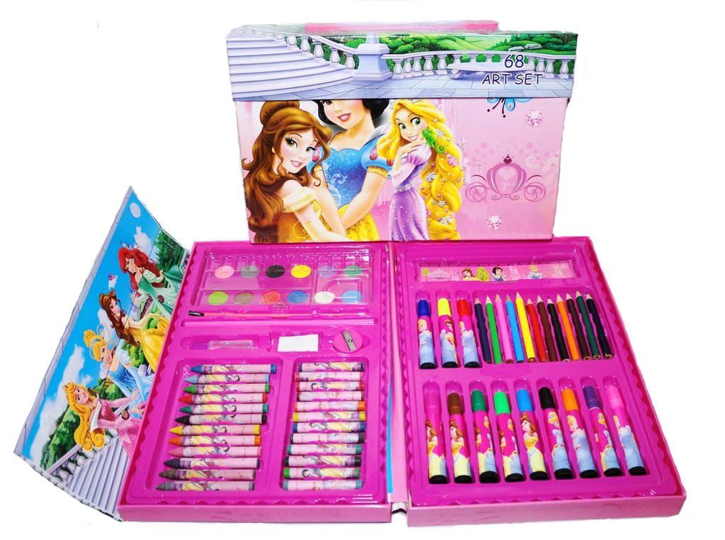 """Набір для малювання 68 предметів """"Принцеси"""""""