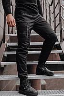 Штаны мужские зимние, брюки, супер качество / черные