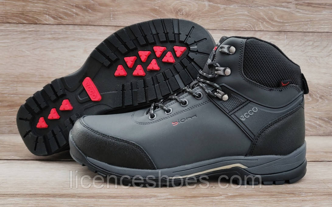 2d06db95e Мужские серые зимние ботинки кроссовки Ecco Biom: продажа, цена в ...