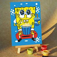 Картина на холсте Sponge Bob Момент отдыха (MC009) 20х30 см