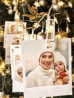 """Новогодняя гирлянда прищепки на батарейках """"Уютные моменты"""", фото 1"""