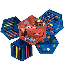 """Набор для рисования 46 предметов в коробочке """"Тачки"""""""