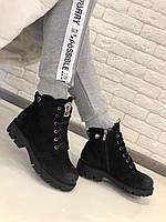 Ботинки зимние MONCLER натуральный  нубук с кожаным напылением на носке и пятке код 2517, фото 1