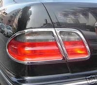 Накладки на стопы Mercedes E-Class W210 1995-2002 (2 шт. нерж.) Carmos