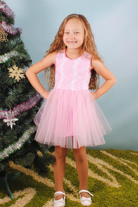 Детское нарядное платье без рукавов