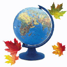 Глобуси, атласи та контурні карти
