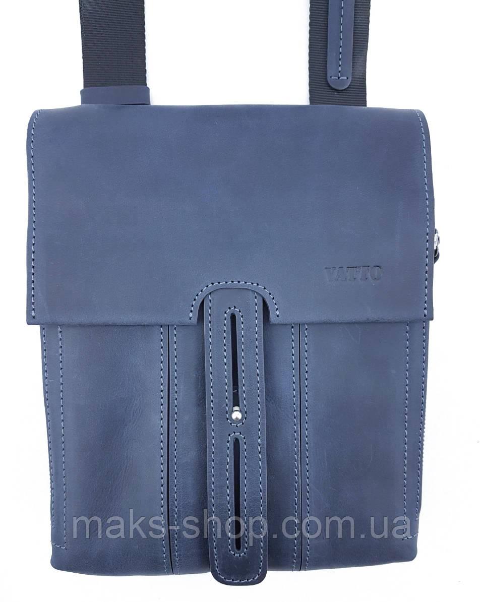 50cc273f7e2f Мужская кожаная сумка-планшет небольшого размера с клапаном и хлястиком  VATTO Mk81.1 Kr600