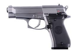 Страйкбольный пистолет M84 Mini CO2 - Silver [WinGun] (для страйкбола)
