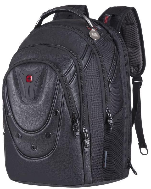 Рюкзак для ноутбука Wenger Ibex 125th 17 Black Leather 605499, черный