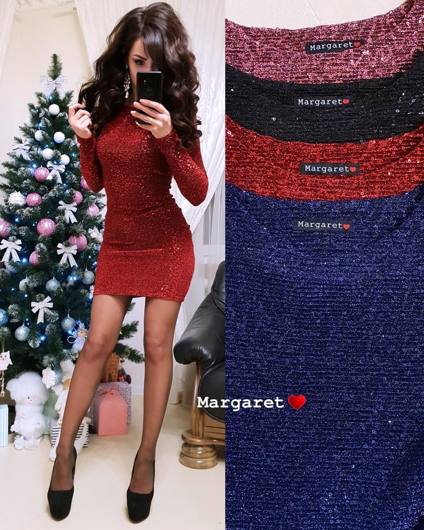 b11b6a6e152 Нарядное короткое платье мини с пайетками на новый год 2019 - Интернет-магазин
