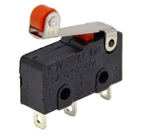 Микропереключатель с лапкой и роликом MSW-12 ON-ON 3pin 5A 125/250VAC. 1шт.