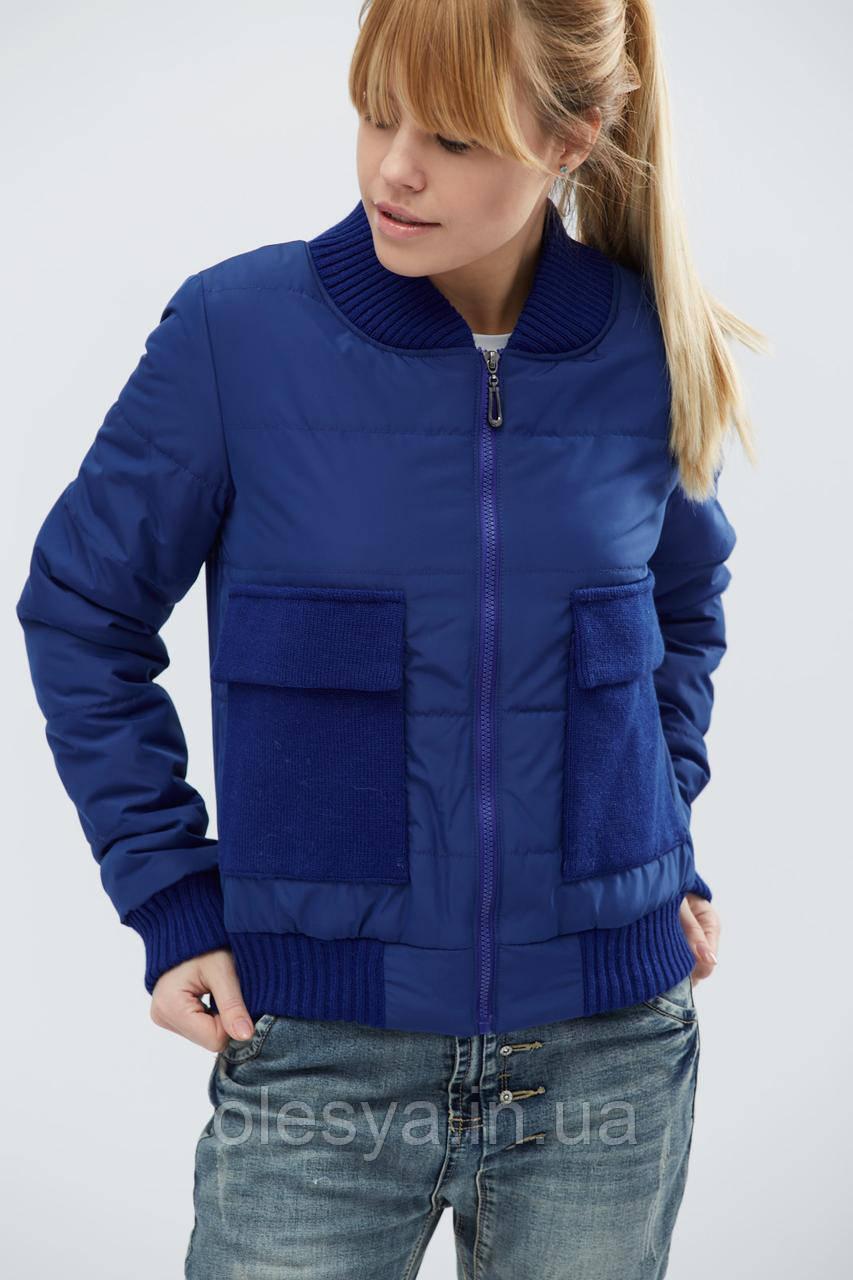 Куртка молодежная демисезонная тм x-woyz цвет Электрик, размер 42