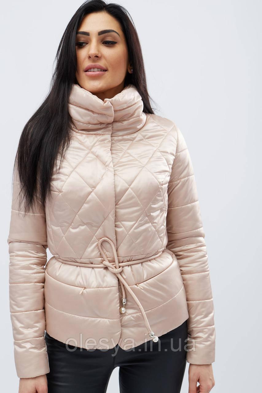 Куртка x-woyz женская бежевая размеры 42 44 48