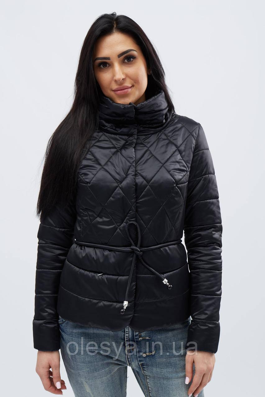 Куртка весенняя молодежная тм x-woyz цвет Черный размер 42