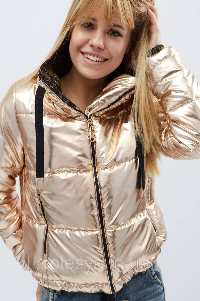 Куртка LS-8775-15, (Розовое золото)